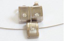 Iced Buckle Set mit Diamanten